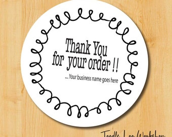 Thank You for your order Label | Etsy Shop Label | Business Labels | Thank You Label