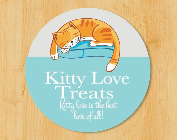 Gifts for Cat Lovers | Return Address Labels | Personalized stickers | Round Address Label | Cat Sticker | Return Address Sticker