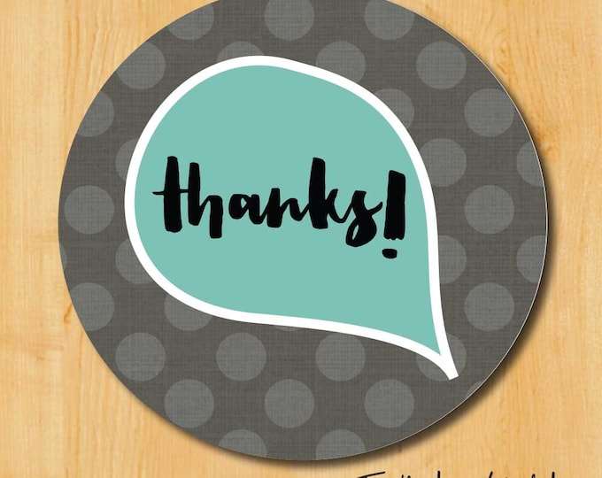 Thank You Sticker | Thanks Label | Wedding Stickers for Favors | Thank You Labels