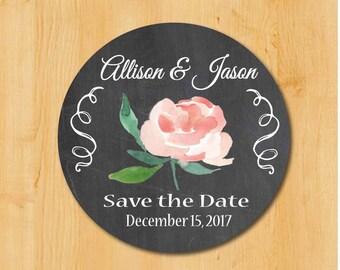 Wedding Invitation Labels | Bridal Shower Labels | Save the Date Labels | Bridal Save the Date | Save the Date Sticker | Elegant Save Date