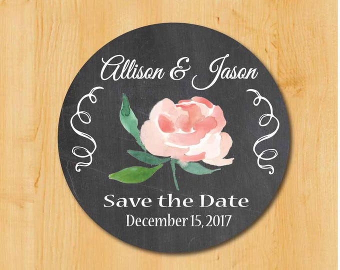 Wedding Invitation Labels | Bridal Shower Labels | Save the Date Labels | Bridal Save the Date | Save the Date Sticker | Elegant Save Date