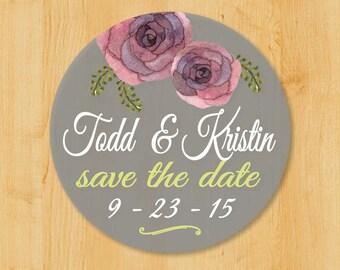 Wedding Invitation Labels | Bridal Shower Labels | Save the Date Labels | Round Address Label