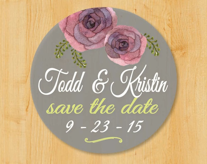Wedding Invitation Labels | Bridal Shower Labels | Save the Date Labels | Round Address Label