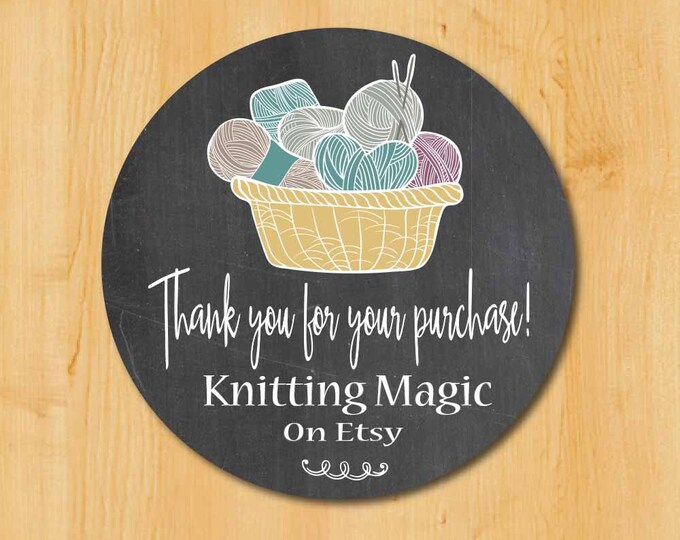 Business Thank You Labels | Etsy Shop Labels | Knitting Etsy Labels | Labels for Etsy Shop | Mailing Labels Etsy Shop | Yarn Etsy Shop