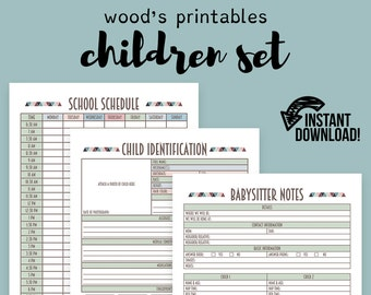 Woods printables by woodsprintables on etsy children binder pdf printable binder printables home binder household binder children chore chart printable chore chart school planner fandeluxe Image collections