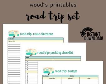 Road Trip Planner >> Road Trip Planner Etsy