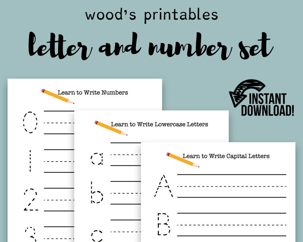 Practice Writing PDF Printable Letter Tracing Handwriting | Etsy