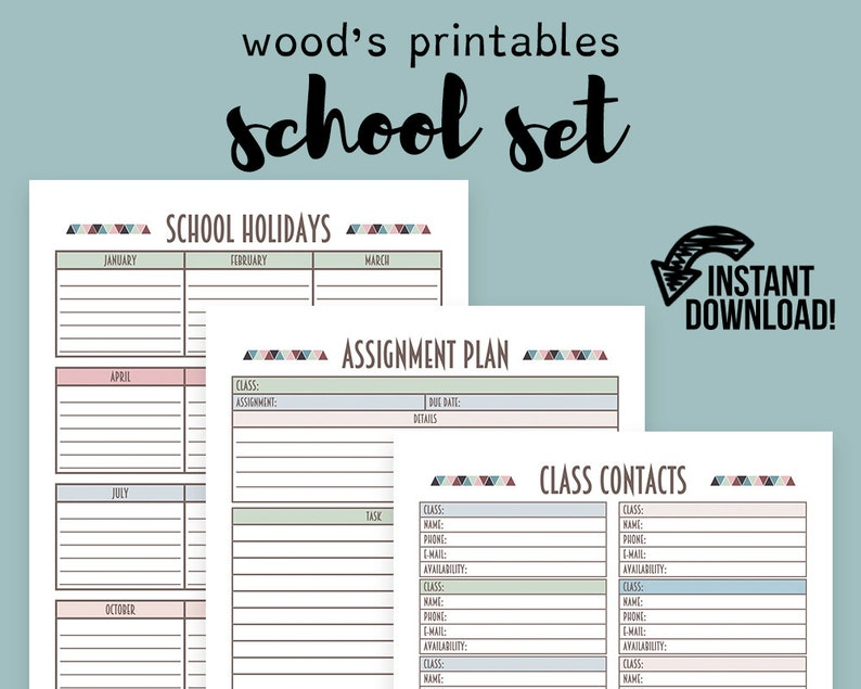 picture about School Planner Printable called University Planner PDF Printable; Binder Printables, Quality E-book, Research Organizer, Research Log, Higher education Planner, Examining Log, Examining Magazine