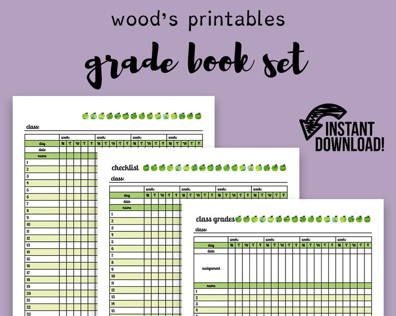 photo about Printable Grade Book known as Quality E-book PDF Planner; Schooling Planner, Trainer Company, Instructor Printable, Quality Log, Quality Reserve, Quality Tracker, Schooling Printable
