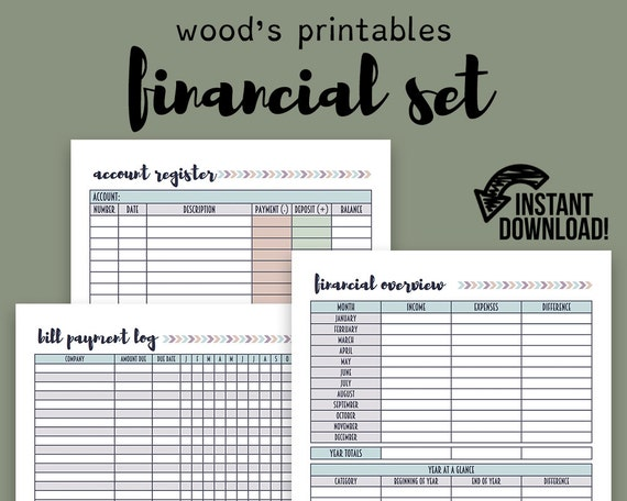 picture about Bill Planner Printable named Economic Planner PDF Printable; Invoice Tracker, Monthly bill Planner, Monthly bill Organizer, Family members Funds, Fiscal Organizer, House Binder, Spending budget Log