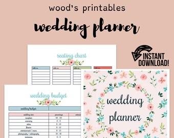 printable wedding planner wedding planner book wedding