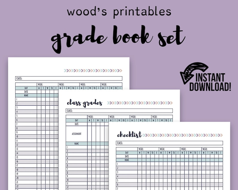 graphic relating to Teacher Grade Book Printable referred to as Quality Reserve PDF Planner; Training Planner, Trainer Small business, Instructor Printable, Quality Log, Quality E book, Quality Tracker, Training Printable