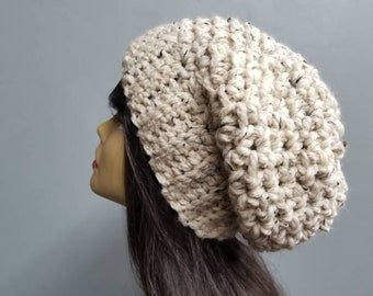 39b6cfb0adc Chunky Textured Slouchy Winter Hat Womens Fashion Accessories   the Ottawa    in Cinnamon Oatmeal