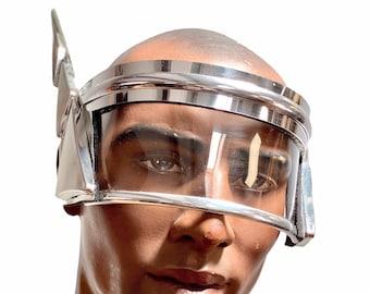 Antenna Monoblock cyclops, robot goggles retro futuristic eyewear, scifi visor, cyberpunk eyewear, future facemask
