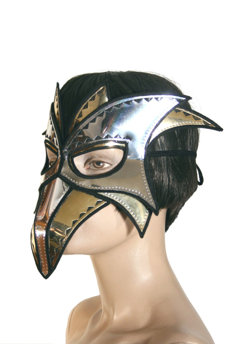 zanni mask  plague doctor mask with beak masquerade steampunk image 0