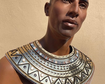 Anubis collar, egyptian necklace, usekh, ancient egypt costume, pharao
