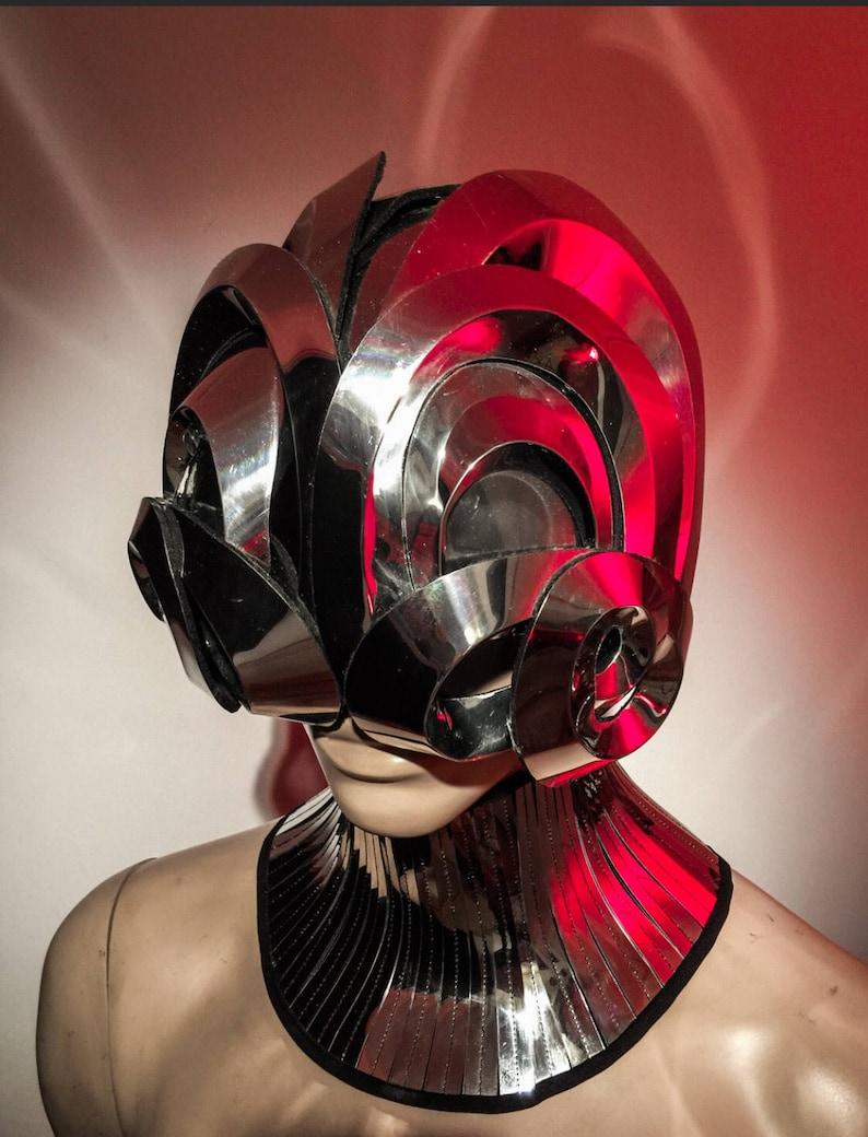 Mantis alien robot mask headpiece armour sci fi futuristic ...