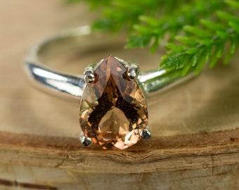 Oregon Sunstone Sterling Silver Ring
