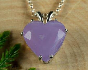 Holly Blue Agate Sterling Silver Pendant