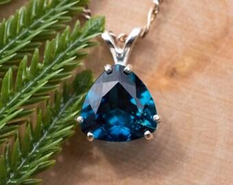 London Blue Topaz Sterling Silver Pendant
