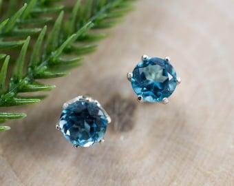 London Blue Topaz Sterling Silver Earrings