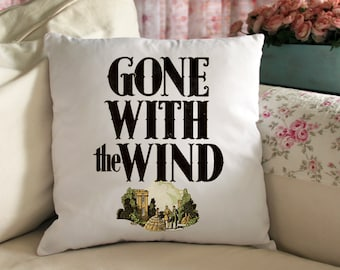 Gone With The Wind Book Cover Throw Pillow Gift