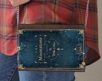 The Moonstone Book Cover Faux Leather Purse Handbag
