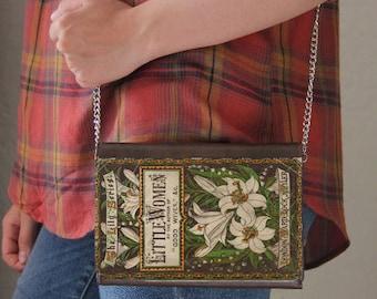 Little Women Book Cover Faux Leather Purse Handbag