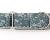 Digital Army Camo CANVAS Dog Collar (Martingale, Buckle or Tag)