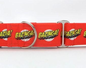 Bazinga! CANVAS Dog Collar (Martingale, Buckle or Tag)