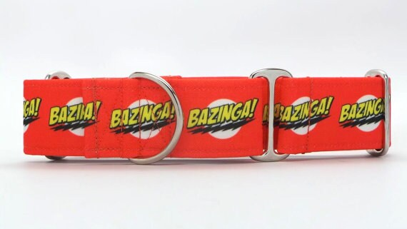 Bazinga! Collier de chien toile (Martingale, boucle ou étiquette)