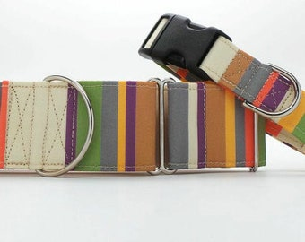 The 4th Scarf CANVAS Dog Collar (Martingale, Buckle or Tag)