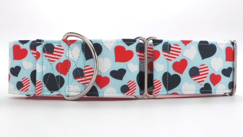 USA Love CANVAS Dog Collar (Martingale, Buckle or Tag)