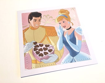 Cinderella Stitched Greeting Card and Envelope - Blank
