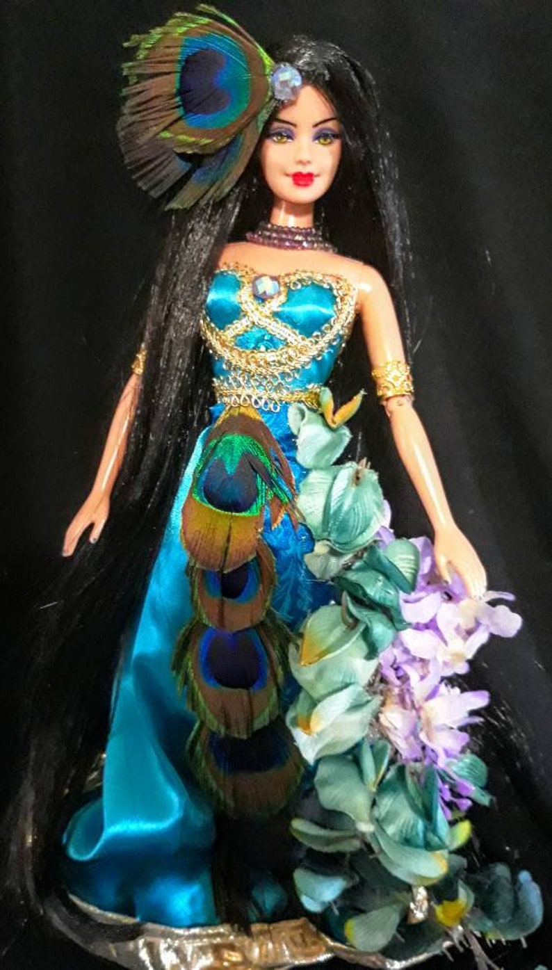 Puppen Spielzeug OOAK Peacock Doll