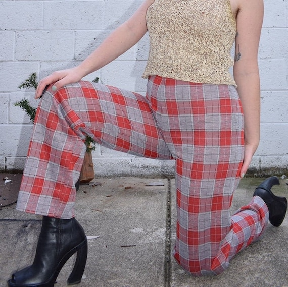 70's Plaid Pants
