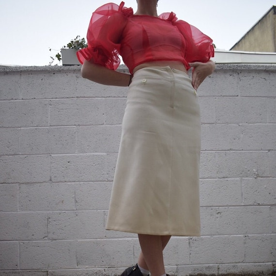 Courreges Stretch Wool Skirt