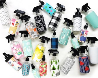 SPRAY BOTTLE. Glass or plastic to pair with cloth wipes, unpaper towels, facial rounds. Perfect for homemade solutions.