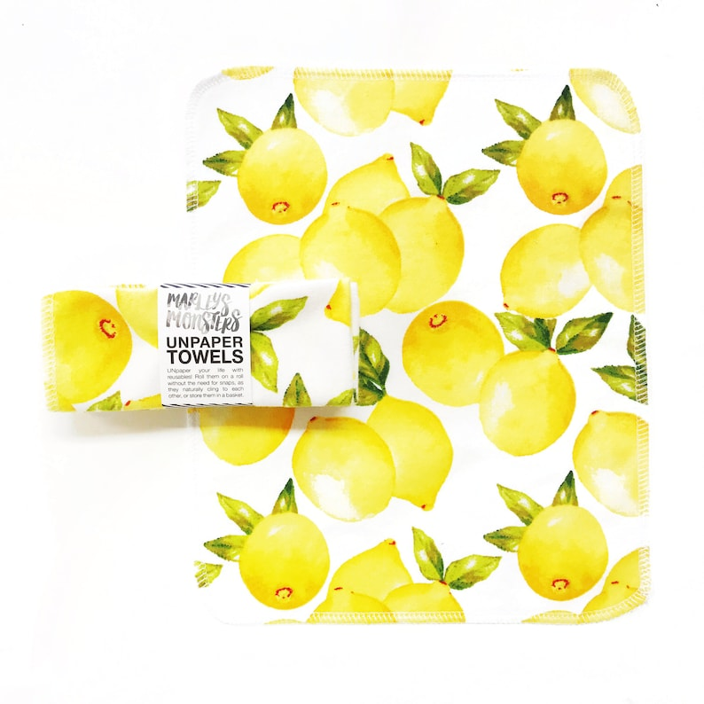 UNPAPER® TOWELS. Vintage Lemons. Choose quantity in drop-down image 0