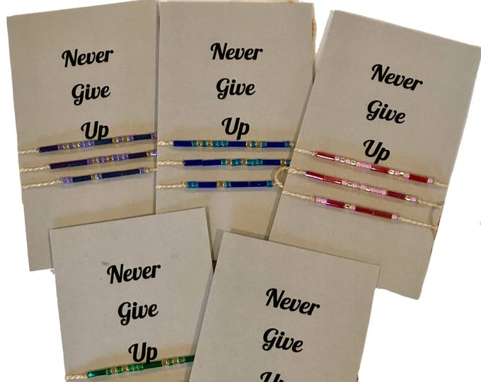 Words to Run By: Never Give Up