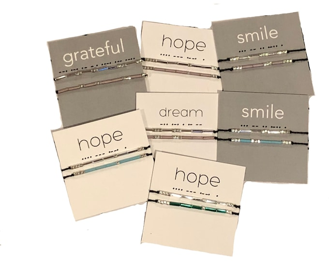 Words to Live By: Wish Bracelets - Unity Bracelets - Smile, Hope, Dream, Fearless, Strength, Friend