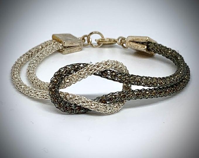 Black and White Infinity Love Knot Bracelet