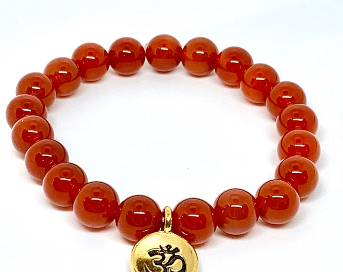 Red Agate Mala Meditation Bracelet - Infinite Courage and Strength