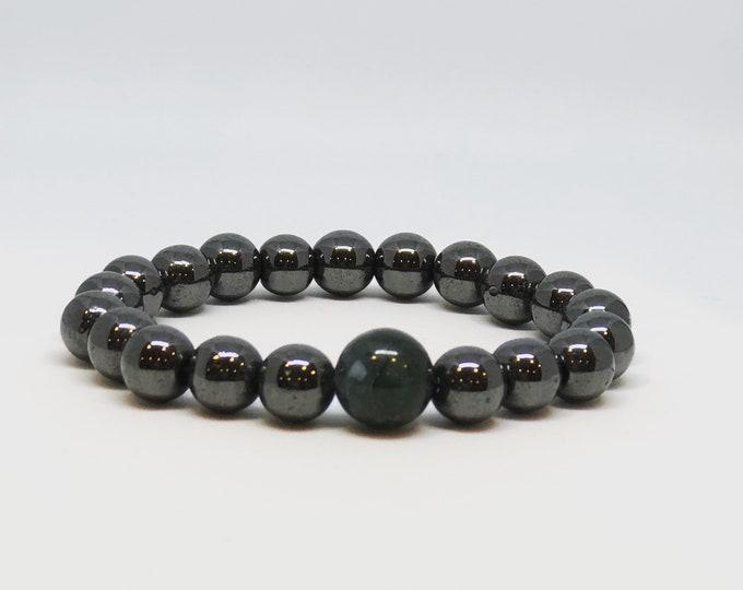 Hematite Mala Meditation Bracelets - Balance - Yoga Inspired Jewellry - Gift for Her - Stocking Stuffer