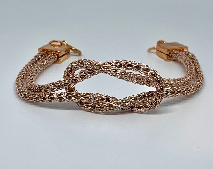Rose Gold Love Knot Infinity Bracelet
