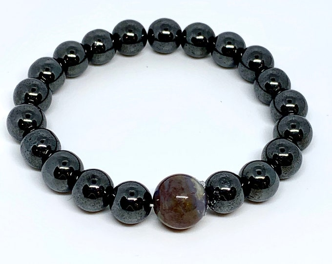 Hematite Mala Meditation Bracelets - Balance - Yoga Inspired Jewellry - Gift for Her - Stocking Stuffer