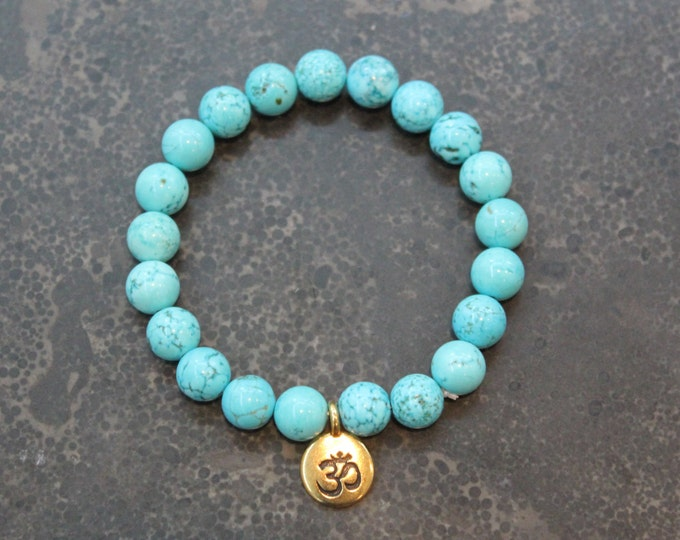 Mala Bracelet Turquoise Meditation - Spirituality, Peace - yoga inspired - stocking stuffer