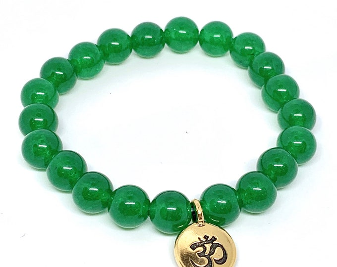 Jade Mala Meditation Bracelet - Infinite Wisdom, Creativity and Peace