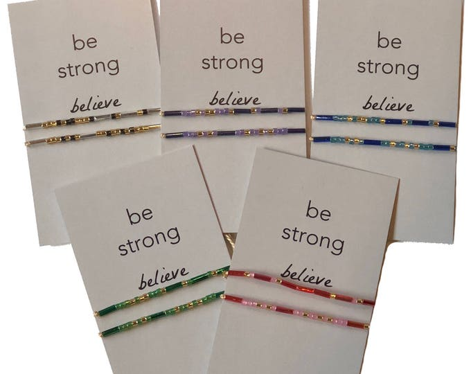 Words to Run By: Be Strong, Believe