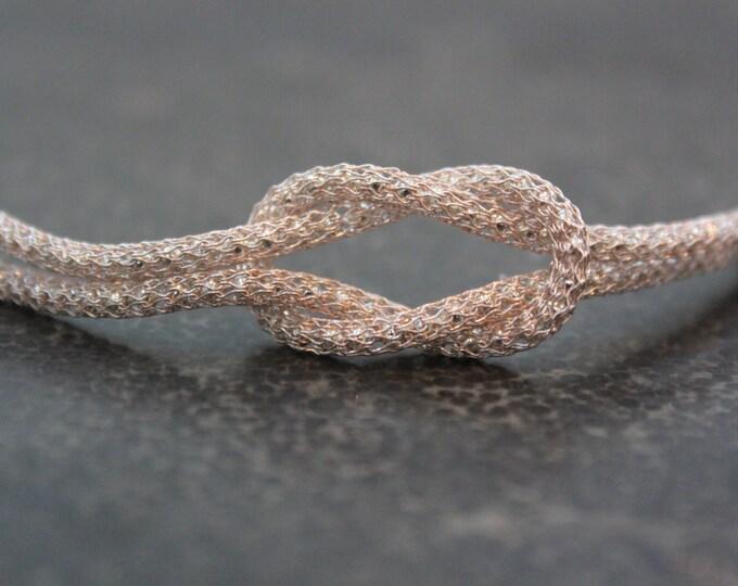 Rose Gold Love Knot Infinity Bracelet